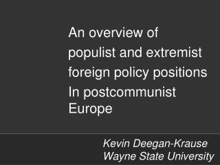 Kevin Deegan-Krause  Wayne State University