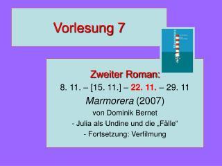 Vorlesung 7