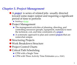 Chapter 3. Project Management