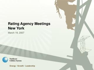 Rating Agency Meetings New York March 19, 2007