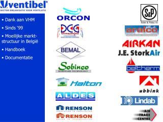 Dank aan VHM  Sinds '99  Moeilijke markt-structuur in België  Handboek   Documentatie