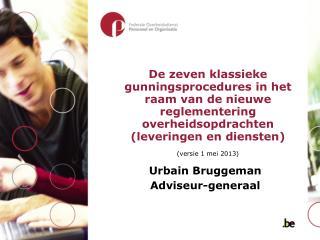 Urbain Bruggeman Adviseur-generaal
