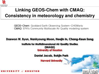 Linking GEOS-Chem with CMAQ: Consistency in meteorology and chemistry
