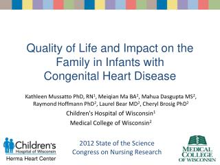 Quality of Life and Impact on the Family in Infants with Congenital Heart Disease