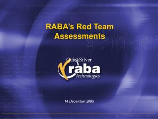 RABA's Red Team Assessments