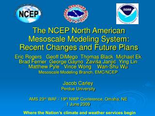 The NCEP North American Mesoscale Modeling System: Recent Changes and Future Plans