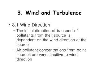3. Wind and Turbulence