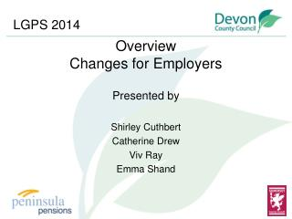 Overview Changes for Employers