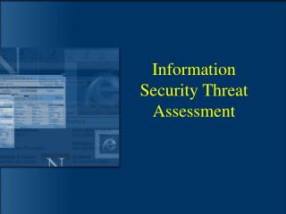 Information Security Threat Assessment