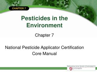 Pesticides in the Environment