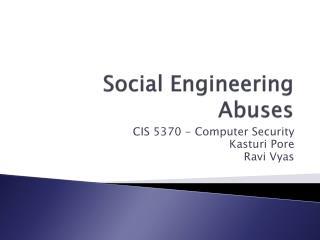 Social Engineering Abuses