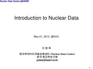 Introduction to Nuclear Data