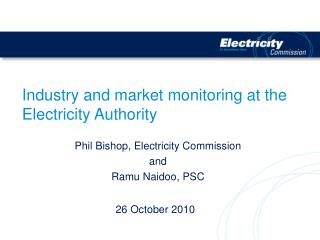 Industry and market monitoring at the Electricity Authority