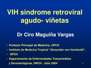 VIH sindrome retroviral agudo- viñetas