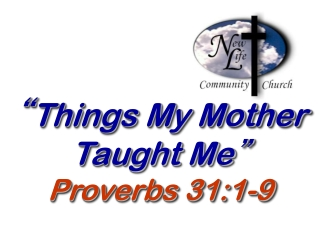 Proverbs on Purity