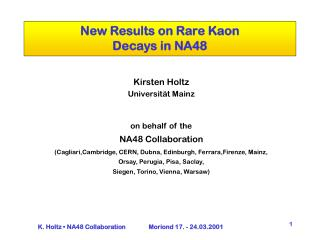 New Results on Rare Kaon  Decays in NA48