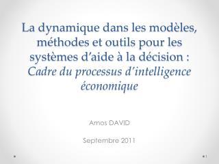 Amos DAVID Septembre 2011