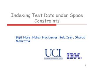 Indexing Text Data under Space Constraints