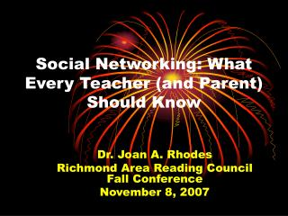 Social Networking: What Every Teacher (and Parent) Should Know