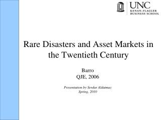 Rare Disasters and Asset Markets in the Twentieth Century