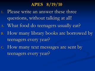APES   8/19/10