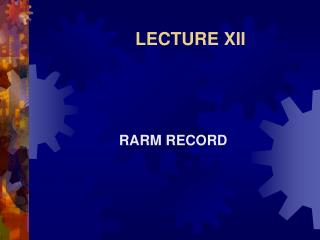 LECTURE XII