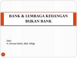 BANK & LEMBAGA KEUANGAN BUKAN BANK