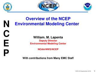 Overview of the NCEP Environmental Modeling Center