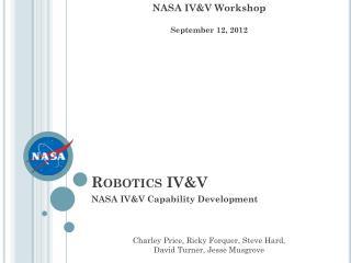 Robotics IV&V