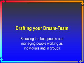 Drafting your Dream-Team