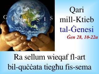 Ra  sellum wieqaf fl -art  bil-quċċata tiegħu fis-sema