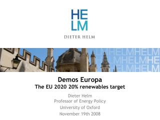 Demos Europa The EU 2020 20% renewables target