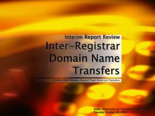 Interim Report Review Inter-Registrar Domain Name Transfers