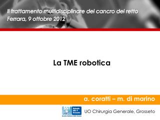 La TME robotica