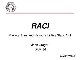 RACI Making Roles and Responsibilities Stand Out