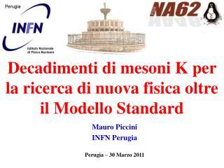 Mauro Piccini INFN Perugia Perugia – 30 Marzo 2011