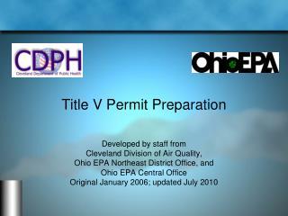 Title V Permit Preparation