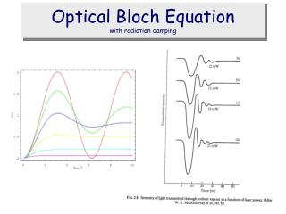 Optical Bloch Equation with radiation damping