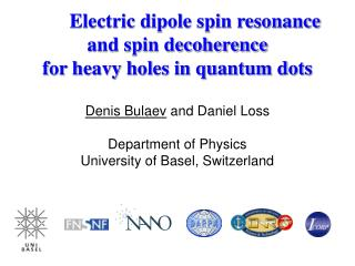 Electric dipole spin resonance  and spin decoherence for heavy holes in quantum dots