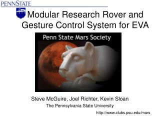 Modular Research Rover and Gesture Control System for EVA