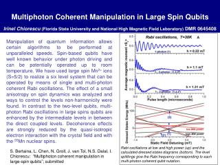 Rabi oscillations at low and high power (up) and the