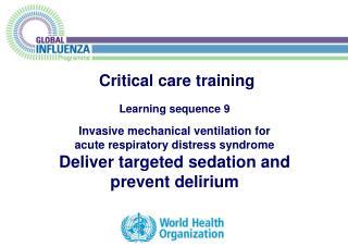 Critical care training