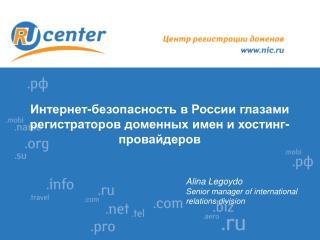 Интернет-безопасность в России глазами регистраторов доменных имен и хостинг-провайдеров