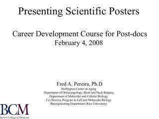 Scientific Posters