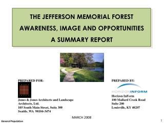 PREPARED FOR:     Jones  Jones Architects and Landscape  Architects, Ltd. 105 South Main Street, Suite 300 Seattle, WA