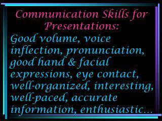 Communication Skills for Presentations: