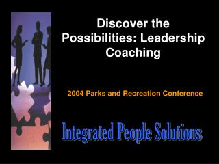 Discover the Possibilities: Leadership Coaching