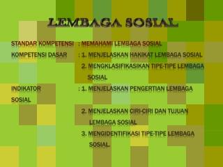 Slide Pembelajaran Sosiologi