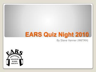 EARS Quiz Night 2010