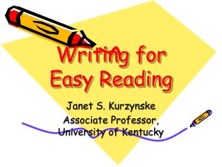 Writing for Easy Reading
